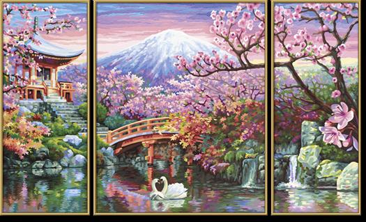 Kraje I Przyroda Kwiaty Wiśni W Japonii 50 X 80 Cm Malowanie Po